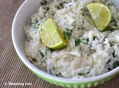 Lime and Coriander Basmati Rice | Slimming Eats