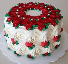 may birthday party Cake Decorating Frosting, Cake Decorating Designs, Cake Decorating Videos, Cake Decorating Techniques, Christmas Cake Designs, Christmas Cake Decorations, Holiday Cakes, Holiday Desserts, Floral Decorations