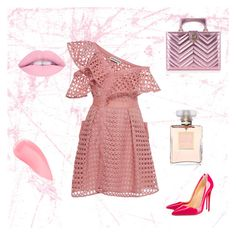Bez tytułu #61 by annamajewska on Polyvore featuring moda, self-portrait, Christian Louboutin, Gucci, Kevyn Aucoin and Chanel