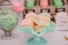 Pretty Peach & Green Circus Guest Dessert Feature | Amy Atlas Events