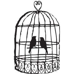 black and white clipart birdcage | Bird Cage Clip Art