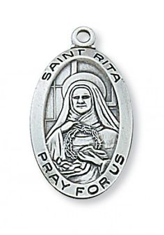 Pewter St Rita Medal With