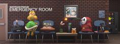 Mushroom Kingdom Emergency Room by JoshMaule.deviantart.com on @deviantART