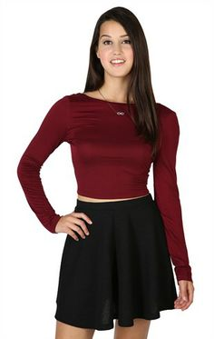Deb Shops Textured Skater Skirt $11.17