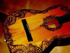 Henna decorated guitar