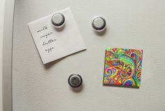 Dress up your fridge door with colorful magnets! I have my designs available on magnets in my Zazzle Store. As of the time of writing, I have three styles of magnets in my store: standard refrigerator magnet, flexible photo magnet, and stone magnet. They are a fun and affordable way to collect my designs! It is like having a mini art gallery on your fridge.
