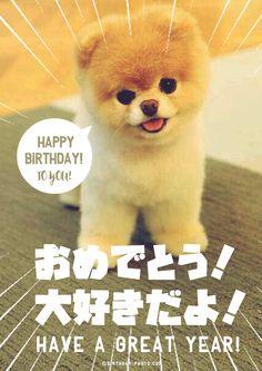お誕生日おめでとう画像No,5 Happy Birthday Animals, Happy Birthday Images, Birthday Messages, Birthday Photos, Harry Birthday, Card Tags, Cards, Happy Mothers Day, Merry Christmas