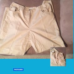 Pants Comfortable and soft.  Sides of waist band are elastic for a nice comfy fit.  60% tencel, 40% cotton. 30 inch inseam. Charter Club Woman Pants