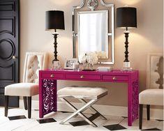 Home-Styling: My Vibrant Color is Fuchsia, not Red * A Minha Côr Vibrante Não é Encarnado é Fucsia!
