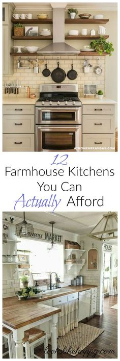 Farmhouse Kitchens that are affordable!
