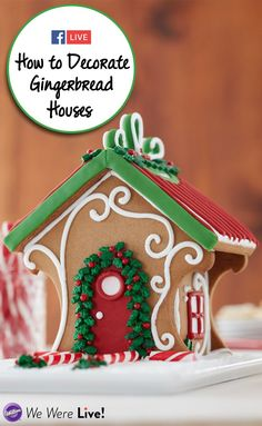 How to Decorate Gingerbread Houses - Click to watch some fun ways to decorate your gingerbread houses this holiday season! #gingerbreadhouse #christmas #christmastradition #wiltoncakes