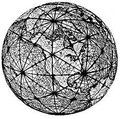 Black&white globe.