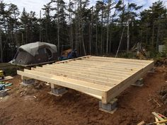 Building A Shed 439663982374372455 - How to: Build a Rock Solid, Low Cost Off Grid Cabin Foundation Source by abcdrod Shed Cabin, Diy Cabin, Tiny House Cabin, Cabin Homes, Cabin Crafts, Building A Small Cabin, How To Build A Log Cabin, Building A Shed, Building Ideas