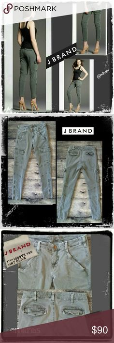 J Brand Houlihan skinny cargo jean FIRM SALE PRICE!!!! FIRM  Highly sought after, J Brand Houlihan sexy skinny cargo crop in Vintage Olive. True to size. Excellent condition. More info above. NO TRADES PLEASE! OFFERS WELCOME THROUGH OFFER FEATURE ONLY PLEASE! J Brand Jeans Skinny