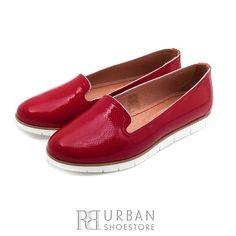 Pantofi casual din piele naturala lacuita - 024-B6 rosu Casual, Loafers, Flats, Shoes, Fashion, Elegant, Travel Shoes, Loafers & Slip Ons, Zapatos