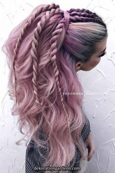 Lace Frontal Wigs Pink Blonde Hair With Light Pink Highlights For Girl Hair inspiration – Hair Models-Hair Styles Prom Hairstyles For Long Hair, Pretty Hairstyles, Braided Hairstyles, Hairstyles Haircuts, Elegant Hairstyles, Everyday Hairstyles, Updo Hairstyle, Pictures Of Hairstyles, Hairstyles For Girls