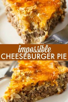 Impossible Cheeseburger Pie - Super easy and delicious! This yummy recipe is full of cheesy beefy flavor that everyone loves. Impossible Cheeseburger Pie - Super easy and delicious! This yummy recipe is full of cheesy beefy flavor that everyone loves. Hamburger Dishes, Hamburger Recipes For Dinner, Dinner Recipes, Easy Beef Recipes, Supper Ideas With Hamburger, Hamburger Meat Recipes Ground, Turkey Burger Recipes, Lamb Recipes, Bisquick Hamburger Pie