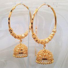Gold Jewelry Design Hd on Jewellery Near Me; Gold Covering Jewellery Shop Near Me since Jewellery Exchange Norristown Gold Jhumka Earrings, Indian Jewelry Earrings, Fancy Jewellery, Jewelry Design Earrings, Gold Earrings Designs, Gold Jewellery Design, Wedding Jewelry, Hoop Earrings, Designer Earrings