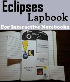 This lapbook on eclipses is a fun hands on activity for students to use in their interactive notebooks. Students may research different facts about each type of eclipse (solar and lunar) and write what they find on the provided blank lines.