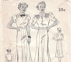 Sweet 1930s Dress Pattern Butterick 7388 Size 16 Bust 34. Perfect for the Heer summer uniform minus the smocking on the shoulders.