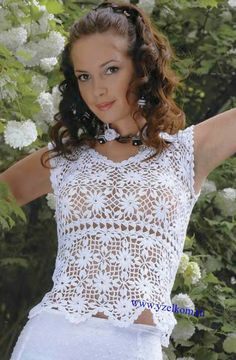 Crochet golden top