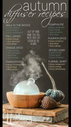 Fall diffuser recipes #massageideas