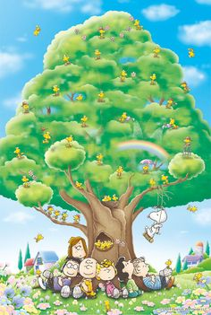 'Happiness and Bliss under the Peanuts Tree', Charlie Brown, Snoopy, and the Peanuts Gang. Peanuts Gang, Peanuts Cartoon, Peanuts Comics, Charlie Brown Christmas, Charlie Brown And Snoopy, Peanuts Christmas, Snoopy Love, Snoopy And Woodstock, Snoopy Wallpaper