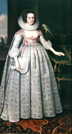 The Countess of Sussex by Paulus Van Somer (1576/78-1622) a Flemish artist who arrived in England from Antwerp during the reign of King James I of England and became one of the leading painters of the royal court. Which countess of Suffolk this is, I don't know, could be Bridget Morison, wife of Robert Radcliffe, the 5th earl. (His mother was Elizabeth Howard, the half-sister of the Elizabeth Howard who was Anne Boleyn's mother.)