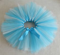 Hechos a mano popular de los niños de la falda sky blue mix blanco tutu falda de color personalizado de la falda del tutú cumpleaños / vacaciones
