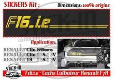 Stickers Autocollant F16IE F7R Renault Clio Williams 16s 19 16 S R19 Valvers | eBay