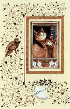"""Portrait of King René (Cats Medieval)"" par Susan Herbert"