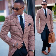 Beige, red and black men in suit …