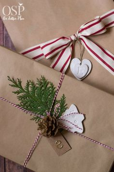Christmas Gift Wrapping Ideas | Easy, inexpensive and festive! Inspiration for anyone. All supplies can be found at craft stores or online.