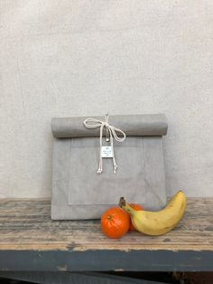 Handmade, eco-friendly, washable paper lunch bag Character Words, Custom Tags, Lunch Bags, Grey Stone, Paper Goods, Eco Friendly, Handmade, Personalized Labels, Hand Made