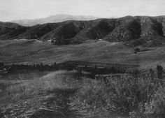 Panoramic view of the Los Angeles River valley taken from Griffith Park, looking to what later became Atwater Village