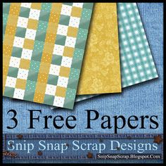 Free Gold and Teal Papers 43
