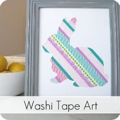 Washi Tape Silhouette Art {Tutorial} My Sister's Suitcase #washitape #craft