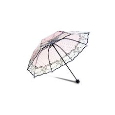 Woem Grace Transparent Umbrella Compact Windproof  Black Printing Rain... ($10) ❤ liked on Polyvore featuring accessories, umbrellas, white, wind proof umbrella, windproof umbrella, see through umbrella, transparent umbrella and white umbrella