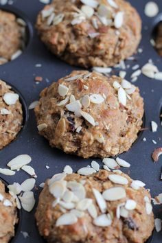 Coconut Almond Flaxseed Muffins #recipe #healthy #muffins