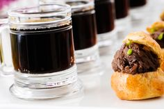 """In Chicago, Boutique Bites Catering serves mini braised beef short rib """"Shepherd's Pie"""" appetizers with tiny mugs of Guinness. """"These are ve... Photo: Scott Thompson Photography"""