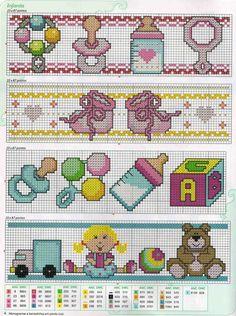 Baby Cross Stitch Patterns, Cross Stitch For Kids, Mini Cross Stitch, Cross Stitch Borders, Cross Stitch Designs, Baby Patterns, Cross Stitching, Cross Stitch Embroidery, Embroidery Patterns