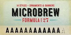 Check out the Microbrew font at Fontspring. Microbrew is a sixteen font…