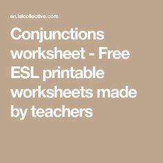 Conjunctions worksheet - Free ESL printable worksheets made by teachers