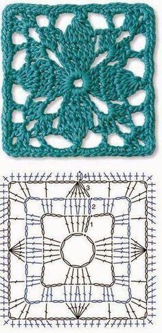 Seis Lindos Quadradinhos para Vocês! (Tecendo Artes em Crochet) 074def91f9c