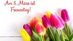 Dzień Kobiet, Kolorowe, Tulipany, Napis, Deski