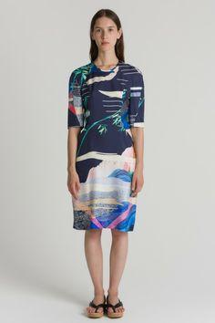 Tora dress, navy pattern