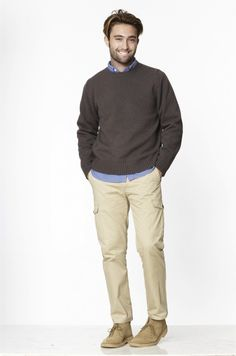 Peter Manning 2012 - Wool Sweater, Weekend Shirt and Cargos Fall Outfits For Teen Girls, Casual Fall Outfits, Sweater Outfits, Men Sweater, Boots And Leggings, Vintage Jeans, Winter Fashion, Man Fashion, Wool