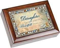Cottage Garden Daughter Heartfelt Dreams Come True Musical Music Jewelry Box Plays You Light Up My Life * You can get additional…
