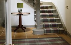 ANTA design and manufacture luxury interior textiles, stoneware and fashion gifts Made in Scotland. Tartan Stair Carpet, Carpet Staircase, Staircase Runner, Wall Carpet, Rugs On Carpet, Carpets, Buy Carpet, Murs Beiges