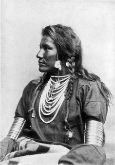 Goes Ahead (1851-1919) was a Crow scout for Major General George A. Custer's 7th Cavalry during the 1876 campaign against the Sioux and Northern Cheyenne. As Curly he was a survivor of the Battle of the Little Big Horn (June 1876), and his accounts of the battle are valued by modern historians. (Wikipedia) - Photograph by Orlando S. Goff, 1878. (B/W copy)